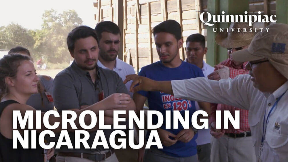 Business students on an onsite visit in Nicaragua, starts video