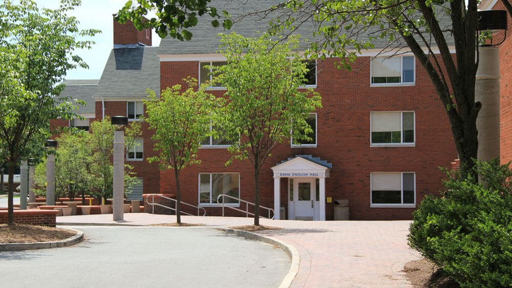 Dana English residence hall on Quinnipiac's Mt Carmel campus