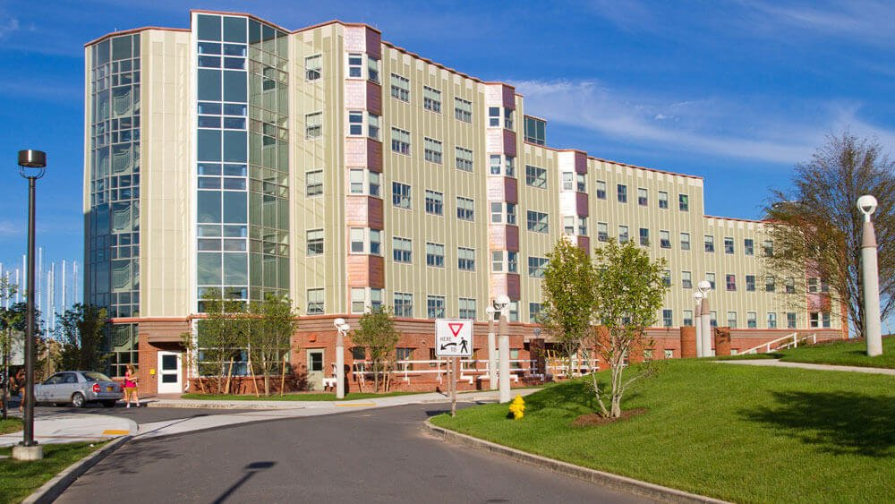Eastview residence hall on Quinnipiac's Rocky Top campus
